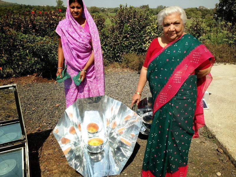 Dr Janak Palta trained men for solar cooking