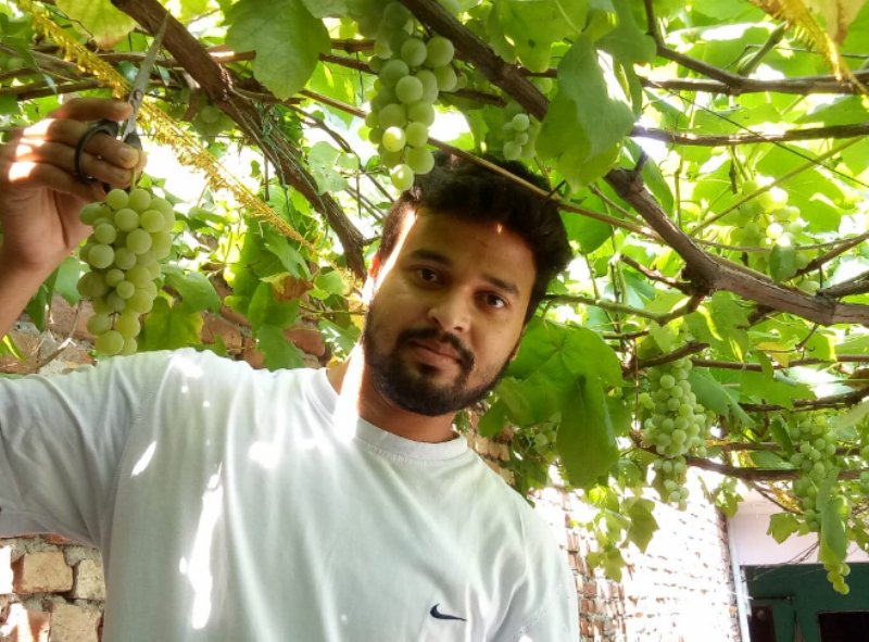 Farmer Dipanshu Dharia has been gardening thousands of trees and plants