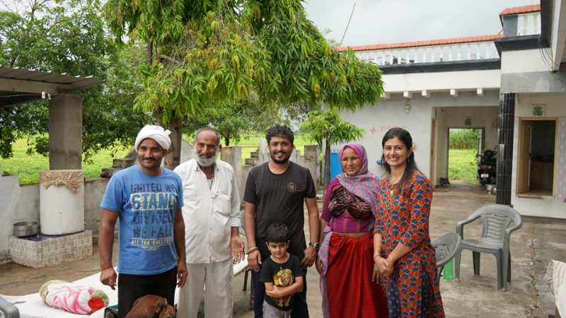 Gujarat's couple starts farming left Landon's life